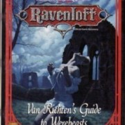 Van Richten's Guide to Werebeasts (AD&D 2nd Edition, Ravenloft Accessory)